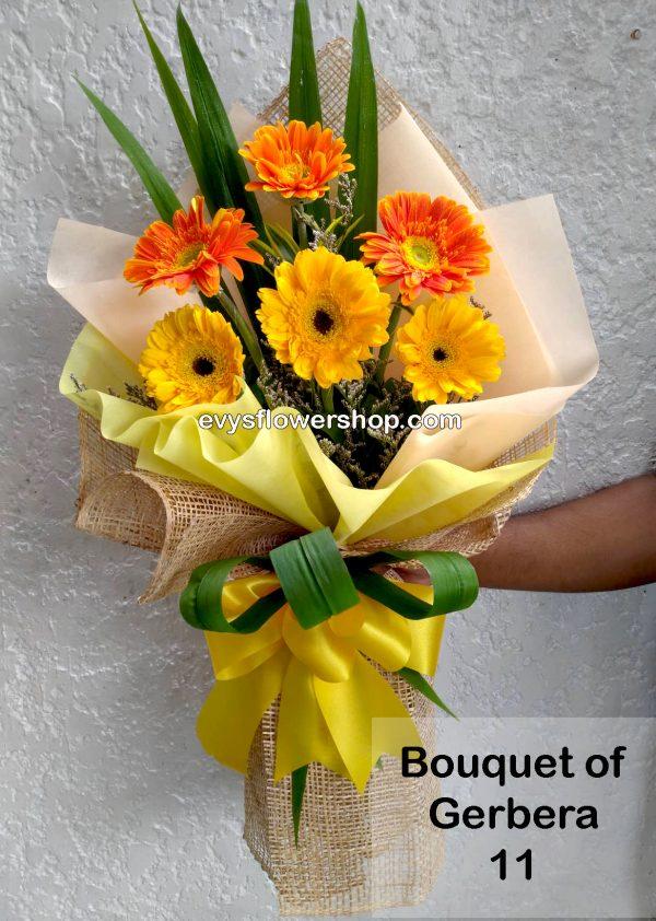 bouquet of gerbera 11, bouquet of gerbera, gerbera, bouquet, flower delivery, flower delivery philippines