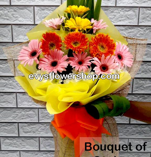 bouquet of gerbera 12, bouquet of gerbera, gerbera, bouquet, flower delivery, flower delivery philippines