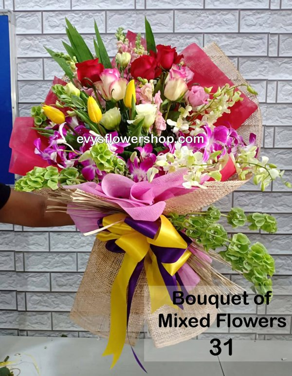 bouquet of mixed flowers 31, bouquet of mixed flowers, spring flowers, bouquet, flower delivery, flower delivery philippines