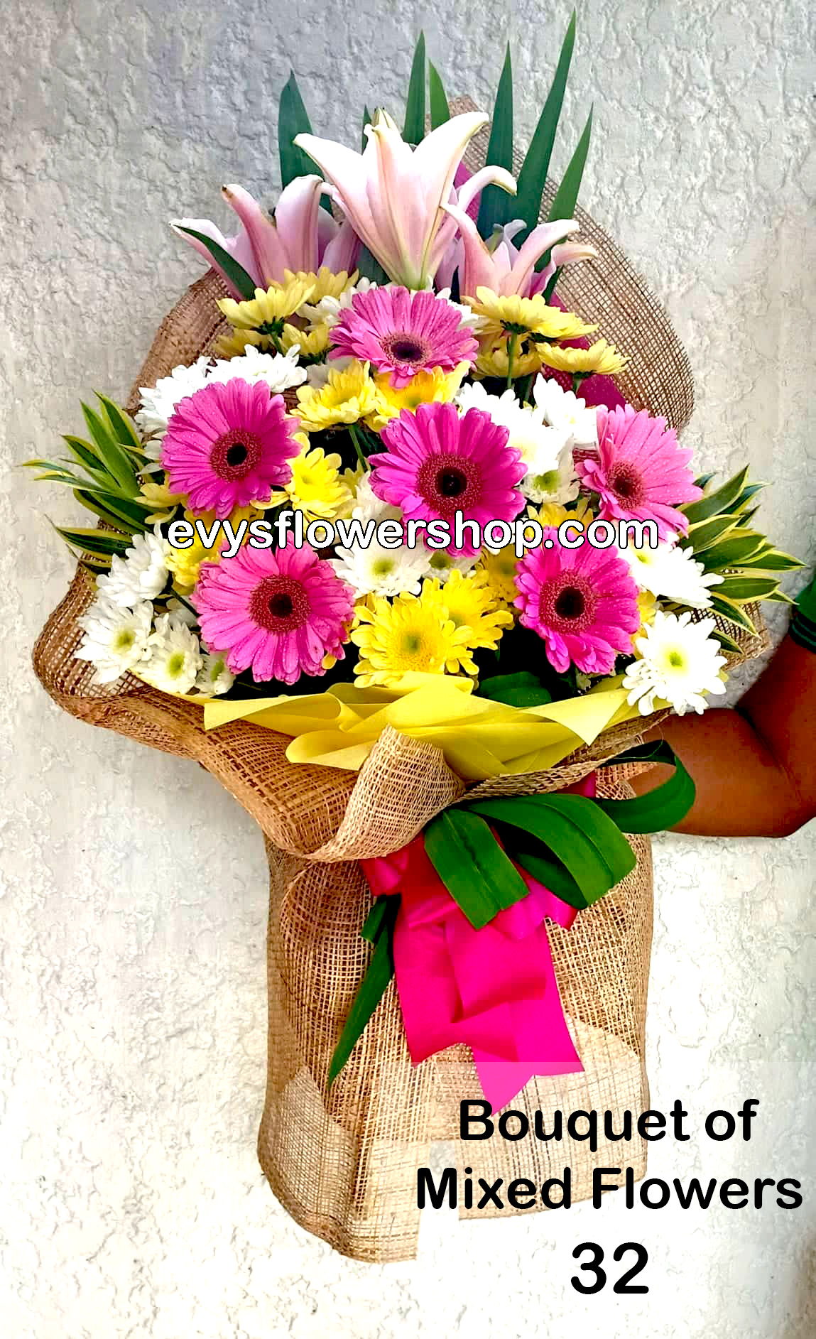 Bouquet Of Mixed Flowers I Evys Flowershop I Same Day And Free Delivery