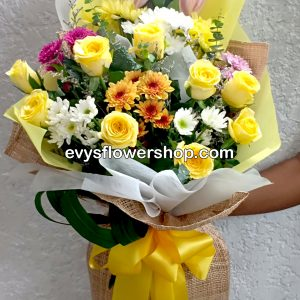 bouquet of mixed flowers 35, bouquet of mixed flowers, spring flowers, bouquet, flower delivery, flower delivery philippines