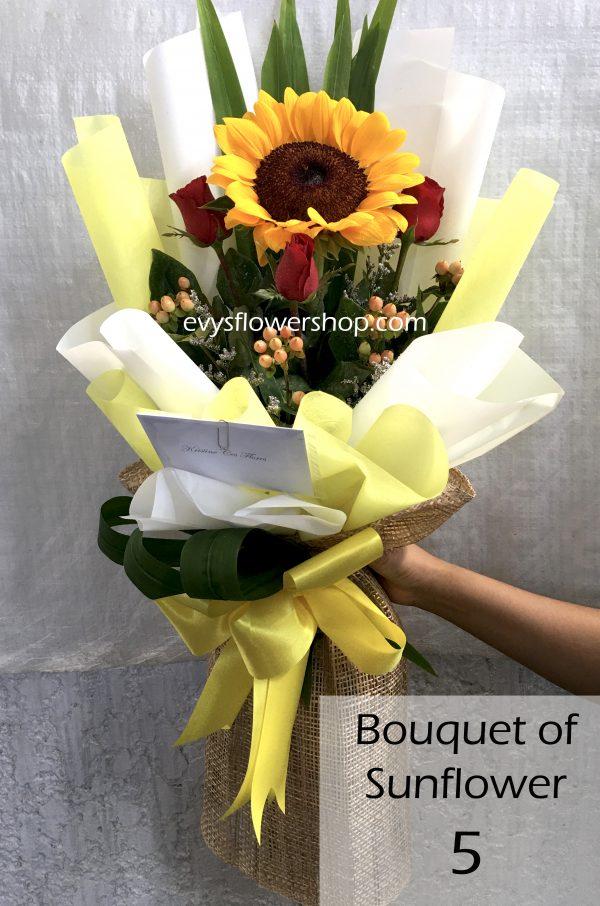 bouquet of sunflower 5, bouquet of sunflower, sunflower, bouquet, flower delivery, flower delivery philippines