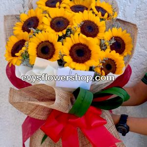 bouquet of sunflower 6, bouquet of sunflower, sunflower, bouquet, flower delivery, flower delivery philippines