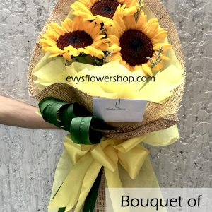 bouquet of sunflower 7, bouquet of sunflower, sunflower, bouquet, flower delivery, flower delivery philippines