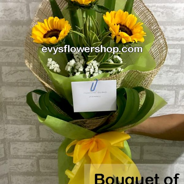 bouquet of sunflower 7, bouquet of sunflower, sunflower, bouquet, flower delivery, flower delivery philippines