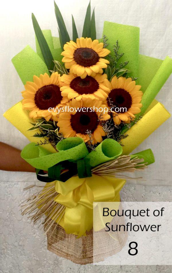 bouquet of sunflower 8, bouquet of sunflower, sunflower, bouquet, flower delivery, flower delivery philippines