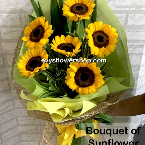 bouquet of sunflower 8, bouquet of sunflower, sunflower, bouquet, flower delivery, flower delivery philippines