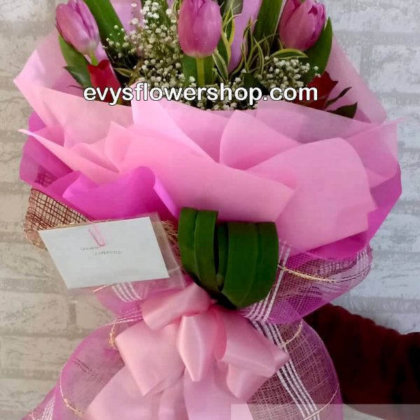bouquet of tulips 15, bouquet of tulips, tulips, bouquet, flower delivery, flower delivery philippines