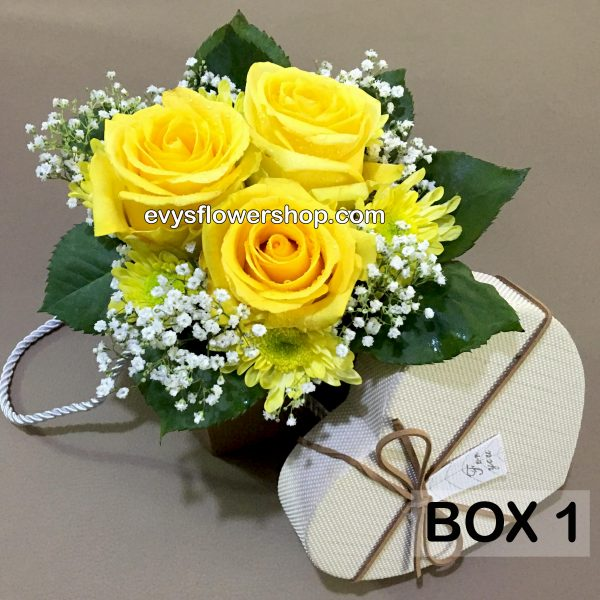 box 1, box of flowers, gift box, flower delivery, flower delivery philippines
