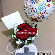 box 12, box of flowers, gift box, flower delivery, flower delivery philippines