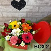 box 2, box of flowers, gift box, flower delivery, flower delivery philippines