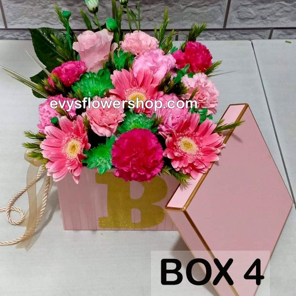 box 4, box of flowers, gift box, flower delivery, flower delivery philippines