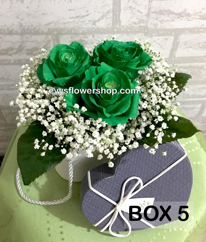 box 5, box of flowers, gift box, flower delivery, flower delivery philippines
