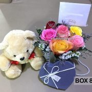 box 8, box of flowers, gift box, flower delivery, flower delivery philippines
