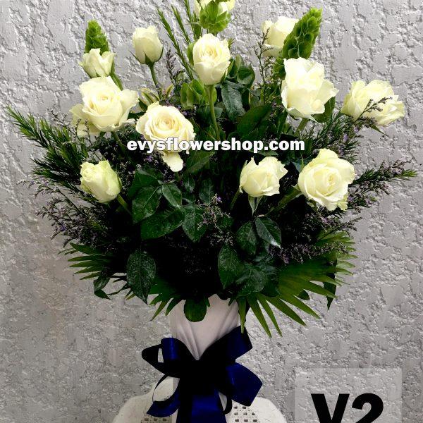 V2, vase of roses, roses, vase arrangement, vase, vase of flowers, flower delivery, flower delivery philippines