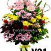 V21, vase of mixed flowers, spring flowers, vase arrangement, vase, vase of flowers, flower delivery, flower delivery philippines
