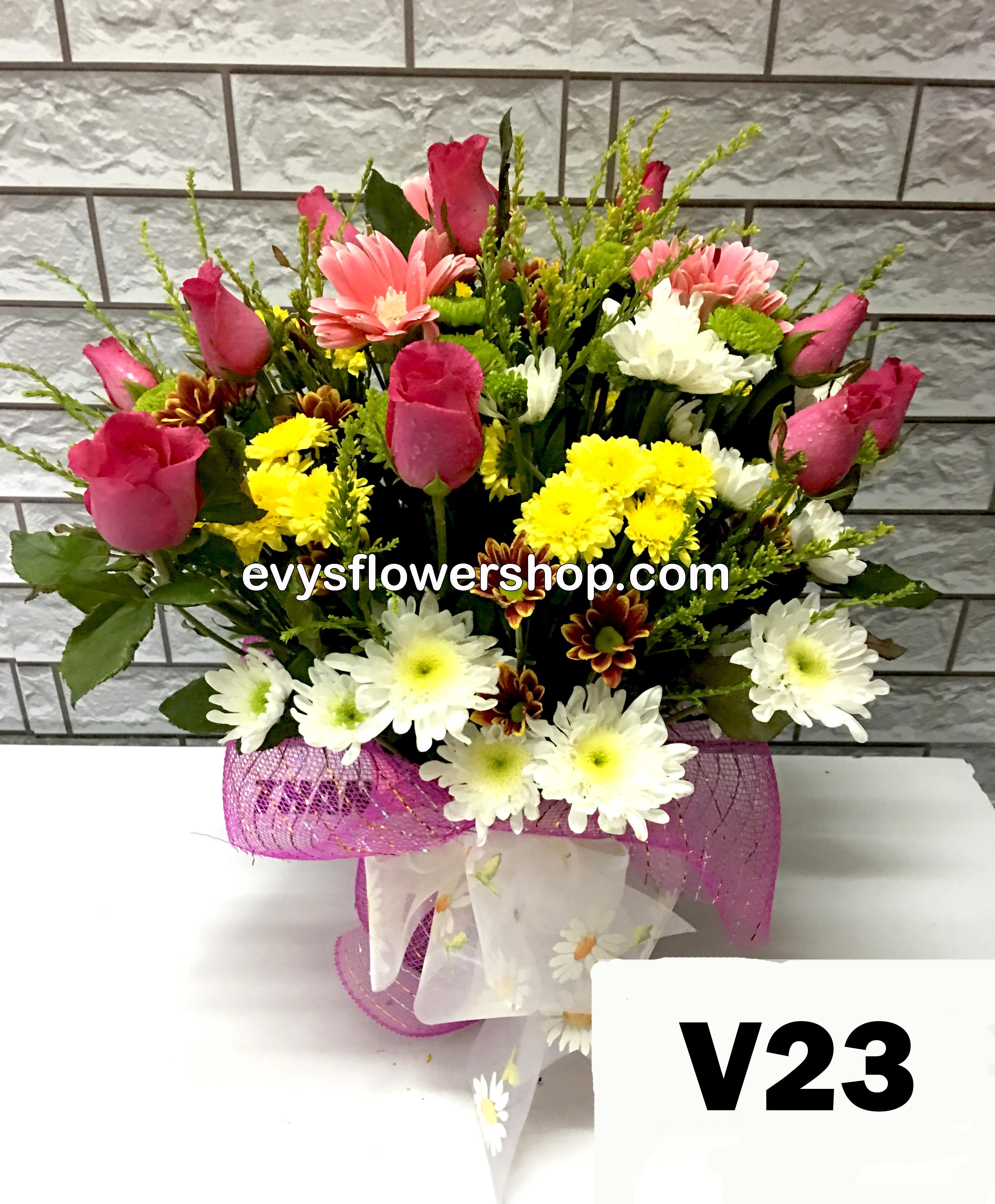 Vase Of Flowers I Evys Flowershop I Free Delivery I Call 3305174