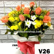 V26, vase of roses, roses, vase arrangement, vase, vase of flowers, flower delivery, flower delivery philippines