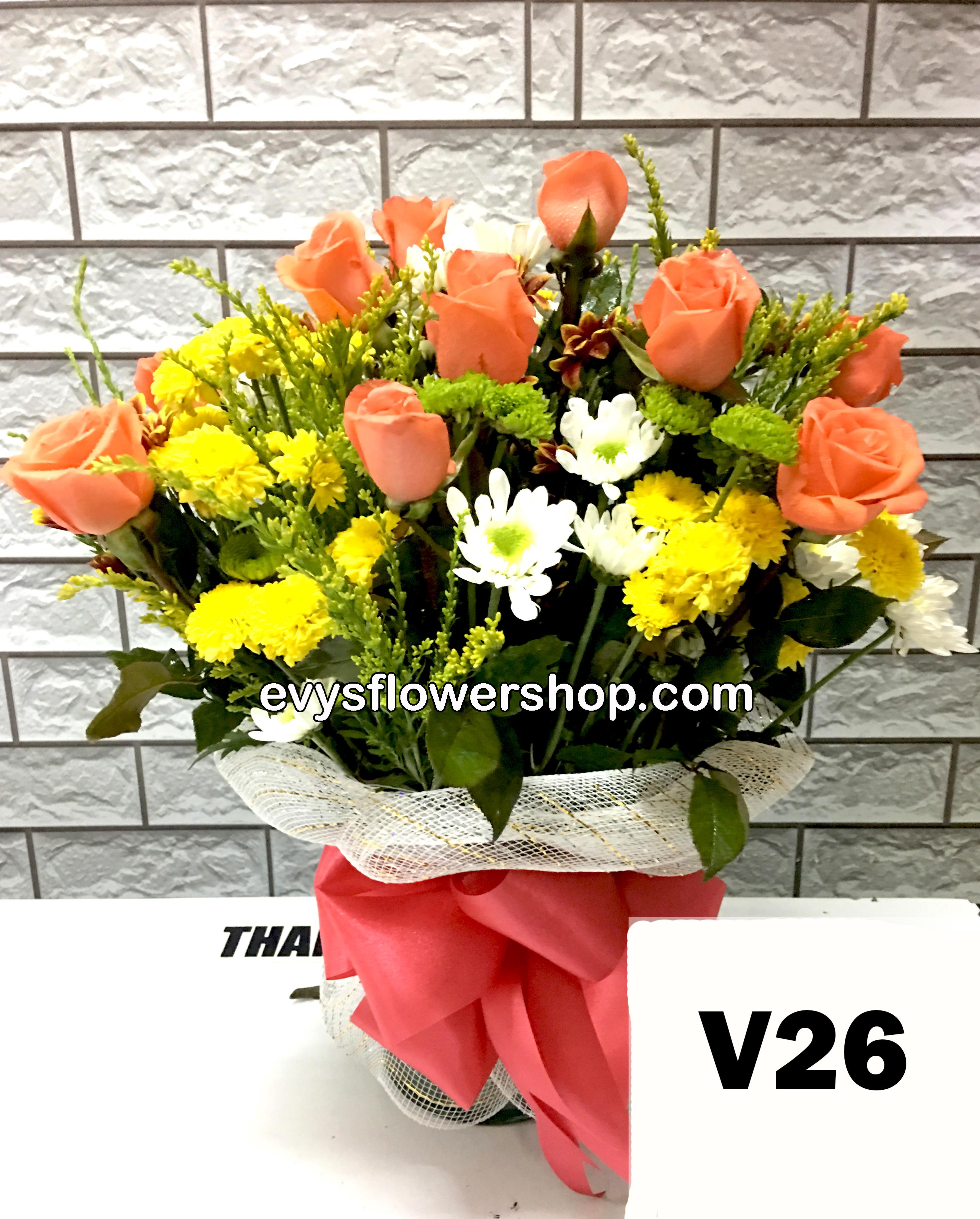 V26 vase of roses roses vase arrangement vase vase of flowers  sc 1 st  Evys Flower Shop & Vase of flowers I Evys Flowershop I FREE delivery I Call 3305174