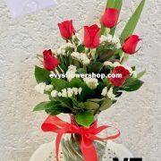 V7, vase of roses, roses, vase arrangement, vase, vase of flowers, flower delivery, flower delivery philippines