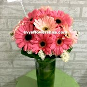 V8, vase of gerbera, gerbera, vase arrangement, vase, vase of flowers, flower delivery, flower delivery philippines