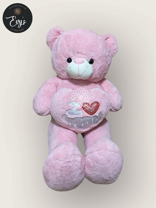 huggy pink stuffed toy