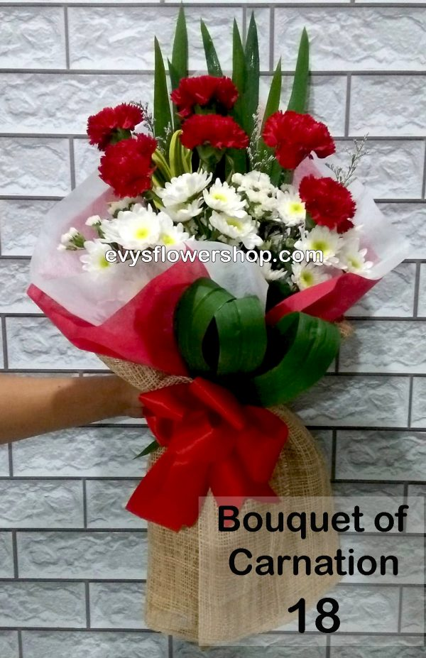 bouquet of carnation 18, bouquet of carnation, carnation, bouquet, flower delivery, flower delivery philippines