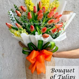 bouquet of tulips 22, bouquet of tulips, tulips, bouquet, flower delivery, flower delivery philippines