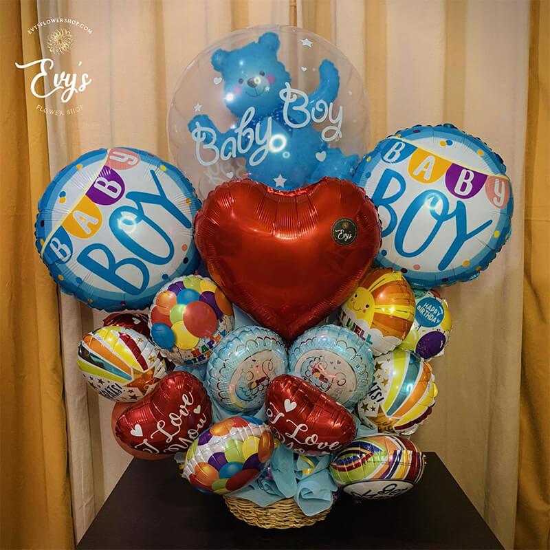 pre-order assorted balloon arrangement